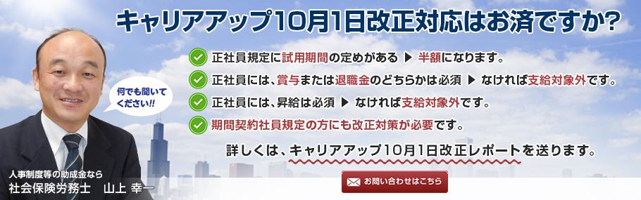 (首都圏、香川、沖縄他)人事制度等の助成金に強い社労士